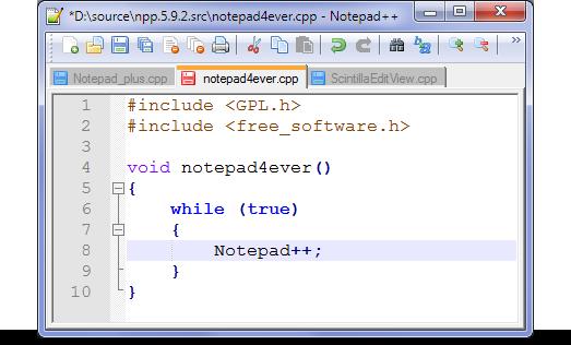 Скачать текстовый редактор Notepad++