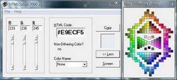 Скачать программу для определения цвета HTML Colors 2000